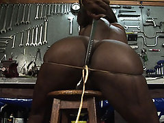 Its tool time in the garage with Julia cock!