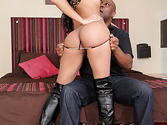 Watch the sexy Jessi Martinez get called in and take some hardcore black cock!